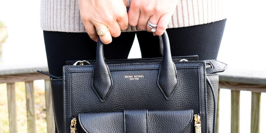 Erin from Cathedrals and Cafes blog carries the Rivington Convertible Mini Tote from Henri Bendel