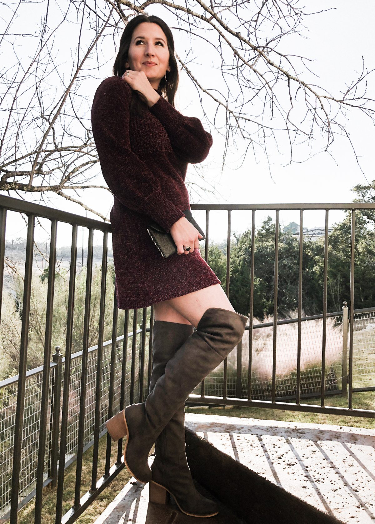 How to Wear OTK Boots with Sweater Dresses on CathedralsandCafes.com