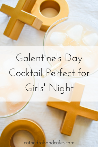 Galentine's Day Cocktail Perfect for Girls Night _Cocktail Recipe _ Valentine's Day cocktails _ Gin _ Ginger Ale _ Grapefruit Juice _ Pink Drinks