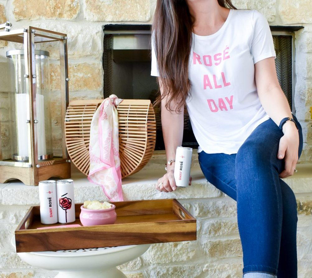 How to Host the Perfect Girls' Weekend | Rosé All Day T-shirt | Texas Wine | Cathedrals and Cafes Blog
