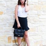 How to Style Ruffle Shorts | Date Night Outfit | Cathedrals and Cafes Blog