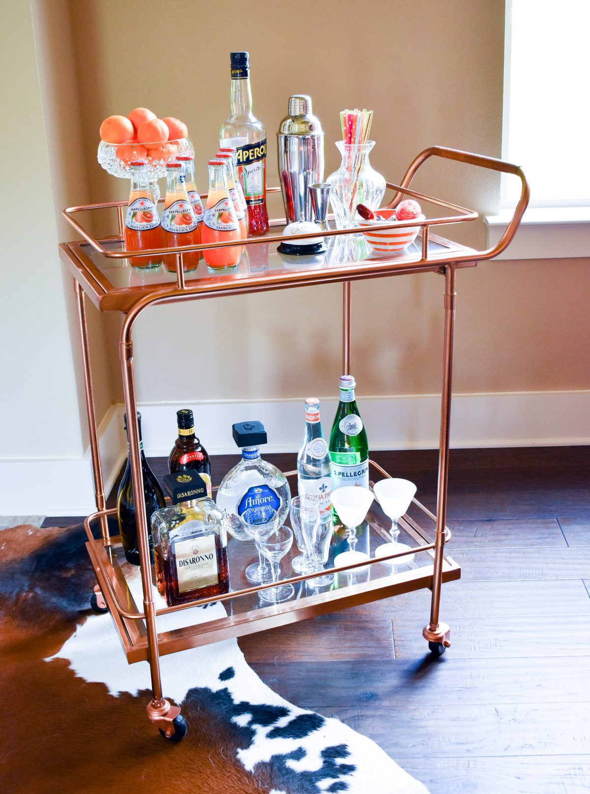 How to style an Italian summer bar cart | Cathedrals and Cafes blog