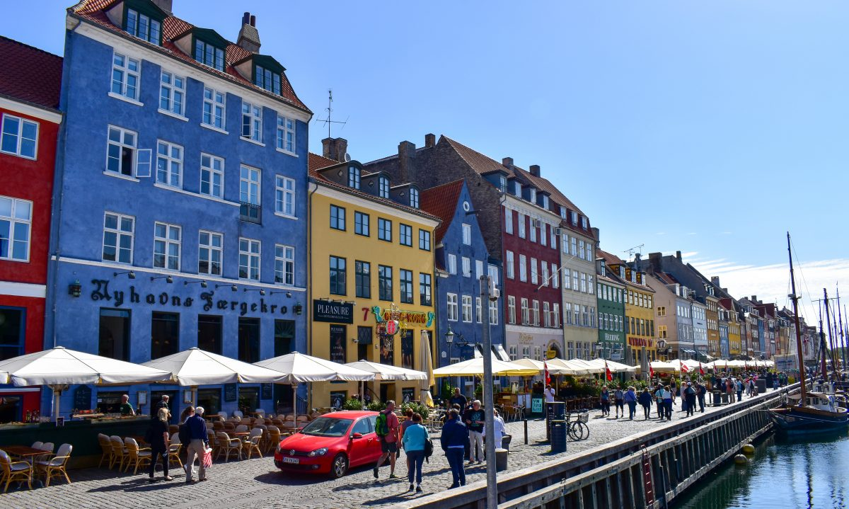 Colorful buildings of Nyhavn in Copenhagen Denmark