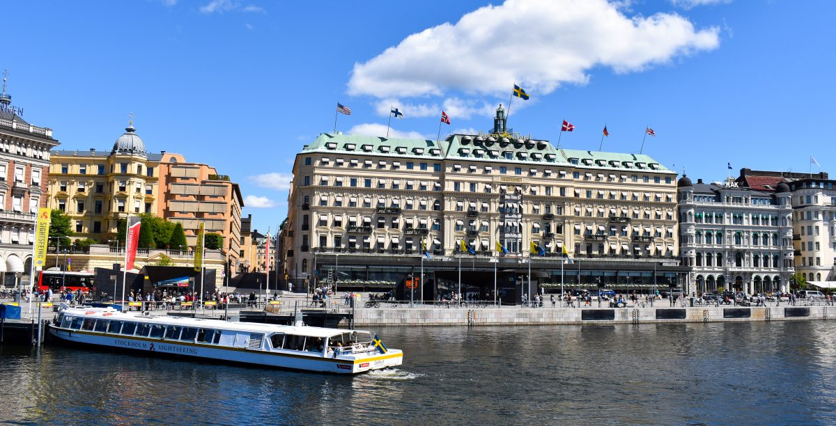 A view of the Grand Hotel in Stockholm Sweden