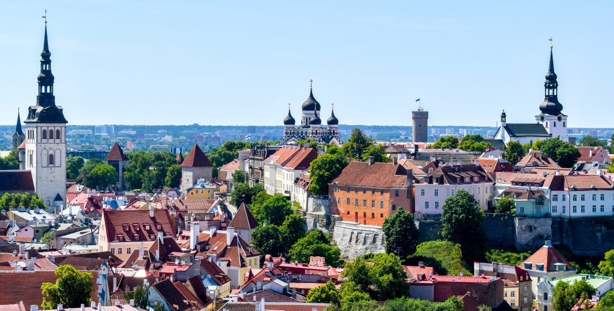 Tallinn Estonia skyline view