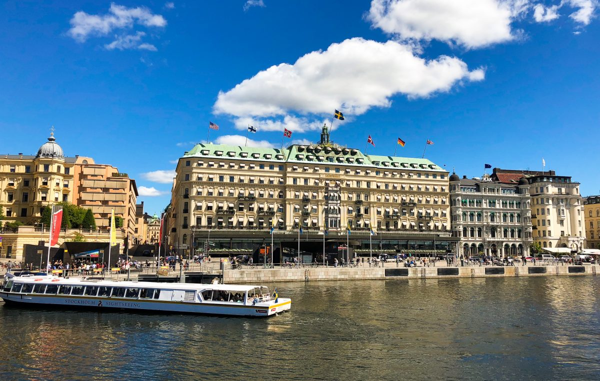 The grand hotel in Stockholm