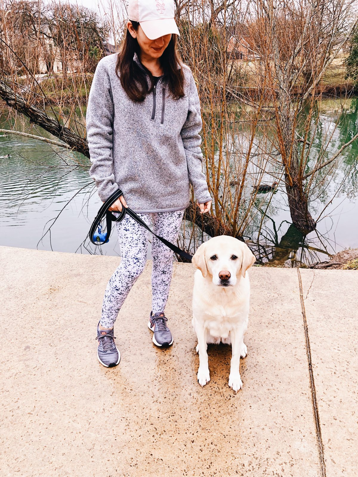 My Favorite Athleta Tights and Patagonia Pullover