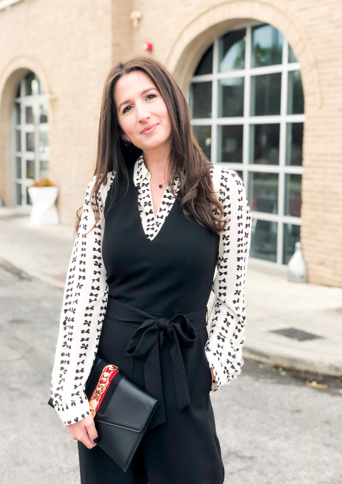 Creative Layering for Your Basic Black Jumpsuit